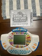 Wheel Of Fortune Deluxe Tiger Electronic Handheld Tested Works + Cartridge 1999