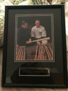 Babe Ruth And Lou Gehrig Farewell Speech Framed Photo W/ Plaque