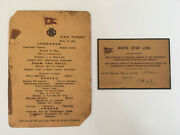 Titanic Lunch Menu And Boarding Pass
