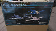 New The World Model Company Chrome P-51d Mustang Warbird Rc Airplane Arf Kit