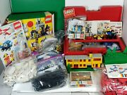Huge Vtg Lego Lot Castle 6074 Bff 1986 Box + Parts 341 And 342 1968and More
