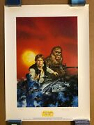 Star Wars Dave Dorman Han Solo Chewbacca Lithograph Signed And Numbered 1480/1500