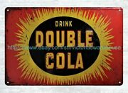 1939,1940s Double Cola Metal Tin Sign Home Wall Decor Stores
