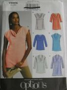 Top And Tunic With Sleeve Variations Misses Size 6-14 Vogue 8816 Sewing Pattern