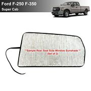 Side Back Row Sunshade For 2017-2021 Ford F250 F350 Supercab 2dr-2 Pcs