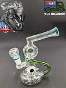 7 Inch Glass Hookah Water Pipe Bong Tubes With Eye Green