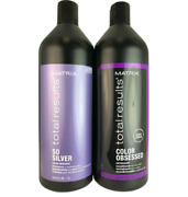 Matrix Total Results So Silver Shampoo And Color Obsessed Conditioner Duo 33.8 Oz