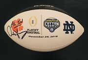Dabo Swinney Autographed Clemson Tigers College Playoff Football All In/ Jsa