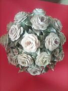 Large Capodimonte Porcelain Floral Centerpiece.12 In. High.