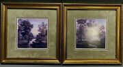 Fine Pair American Oils River Landscapes Signed W. Rosselli Ca. 20th Century
