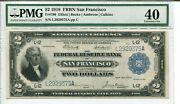 Fr 780 1918 2 San Francisco Federal Reserve Bank Note 40 Extremely Fine