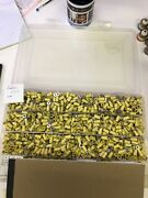 Lot Of 1,325 3m Insulated Ring Terminals 12 - 10 Gage Wire 1/8 Inch Stud