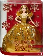 @ Barbie Signature 2020 Holiday Barbie Doll 12 Blonde Long Hair Golden Gown