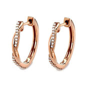1.80cts Natural Round Diamond 14k Solid Rose Gold Wedding Hoops Earring