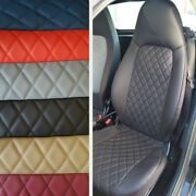Car Seat Covers 2 Pcs | Made For Smart | Rhombus Leatherette Variations