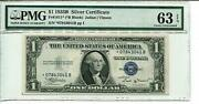 Fr 1611 Star 1935b 1 Star Silver Certificate 63 Epq Choice Uncirculated 1 Of 2