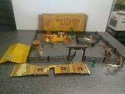 Very Nice Marx Western Ranch Set With Box Early 1950s Think It's Complete Ww W1