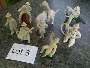 8 Chubby Cowboys And 3 Chubby Horses Marx 1950s Figures Western Town Ranch Lot 3