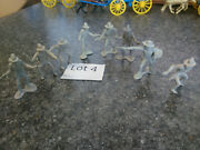 Cowboys - For Marx / Other Western Town And Ranch Cowboy Figure Vintage  Lot 4