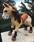 Vintage Palomino Little Tikes Giddy Up'n Go Appaloosa Pony Ride On Horse