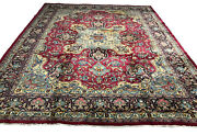 Old Hand Knotted Wool Rug Saruq 1308 10and039x12and0398