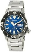 Seiko Divers Watch Sbdy045 Prospex Save The Ocean Monster Men's Silver