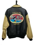 Vintage Mickey Mouse Genuine Leather Jacket Rare Colorway/style