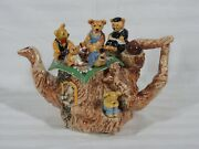 Rare Vintage Cardew Large Teddy Bear Picnic Limited Edition 1845/5000 Teapot New