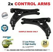 2x Front Control Arms For Audi A4 Cabrio 2.0 Tfsi 16v 2006-2009