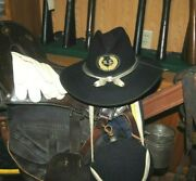 Beautiful Minty Post Cw Genuine Stetson Cavalry Hat Tags And Markings Present