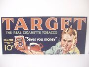 Target The Real Cigarette Tobacco 10 Cent Paper Display Sign