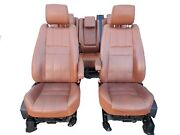 2010-2013 Range Rover Sport Hse Front And Rear Tan Leather Seat Set