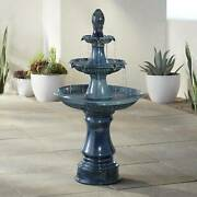 Outdoor Floor Water Fountain With Light Led 46 Three Tier For Yard Garden Patio