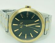 Armani Exchange Nico Ax2336 Gold Tone And Silver Menand039s Watch 19a