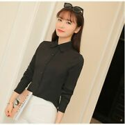 Girl Ladies Top Casual Girland039s Korean Office Stylish Blouse Casual Floral Chiffon