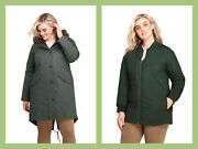 Landsand039 End Weather Resistant 3-in-1 Womenand039s 2x Hooded Cotton Parka 299 Nip