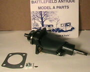 1928-1931 Model A Ford Leakless Water Pump And Green Leather Cover