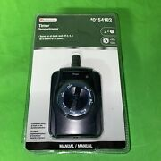 Utilitech Manual Outdoor Timer Countdown On/off Timer 7 Settings 0154182