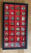 Lot Of 32 St. Louis Cardinals Pins Baseball Mlb In Display Case Hornsby , Dean
