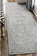 Nuloom Lefebvre Braided Indoor/outdoor Runner Rug 2and039 6 X 6and039 Light Grey
