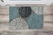 Contemporary Modern Floral Gray 2and039 X 3and039 Indoor Soft Area Rug