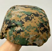 New Usmc Reversible Woodland And Desert Cover For Ach Mich Helmet - Medium/large