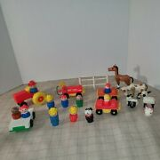 Fisher-price Little People Farm Figures Animals Vehicles And Fence Lot Of 22 Piece
