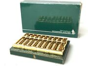 Singapore Airlines 22k Gold Plated Abacus First Class Gift Calculator