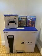 Sony Ps5 Console + Additional Remote + 2 Games
