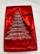 Waterford Christmas Tree Large Clear Crystal 6.5 Sculpture-mint Condition