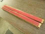 Nos 1979 - 1993 Ford Mustang Sill Scuff Plates Red Gt Cobra Lx 1992 1991 1990