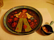 Rheinfelden Vte Signed Rare Dutch Pottery Dish And Sm Spouted Handled Pot -child