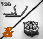Fit For Harley 2008-13 Iron Xl883n L C Xl1200 N X48 M Black Exhaustandair Cleaners