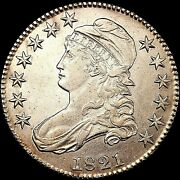 1821 Capped Bust Half Dollar Uncirculated O-106 Variety Cbh005